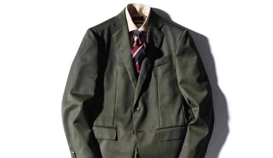 ジャンフランコボメザドリのスーツ、バーニーズニューヨークのシャツ、ドレイクスのタイ