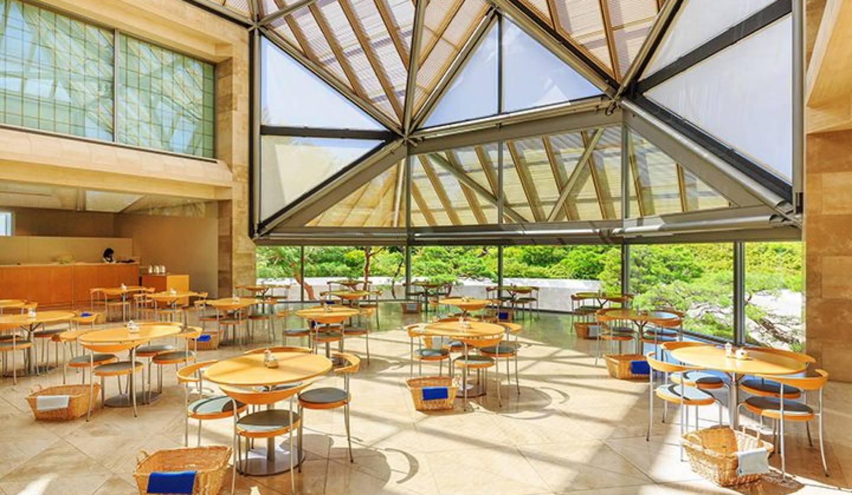 ミホミュージアムのカフェ