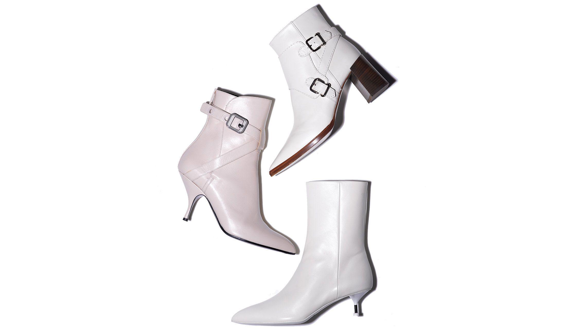トッズ、ボッテガ・ヴェネタ、ジル・サンダーの白ブーツ