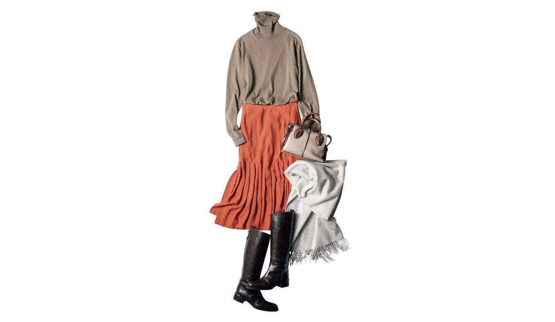 「ミラノ配色」で洗練を極める、1月14日(火)のコーディネート