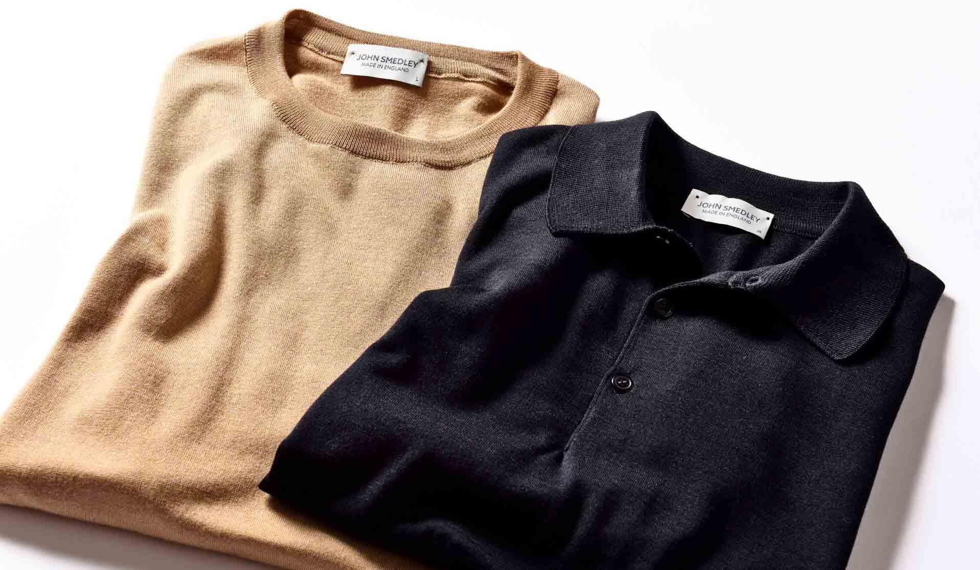 ジョン スメドレーの日本限定素材のポロシャツとニットT