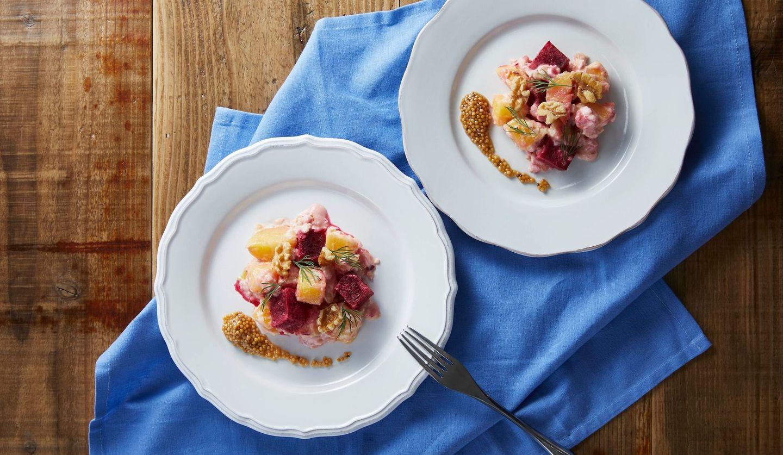エゴマスタードとビーツのポテトサラダ