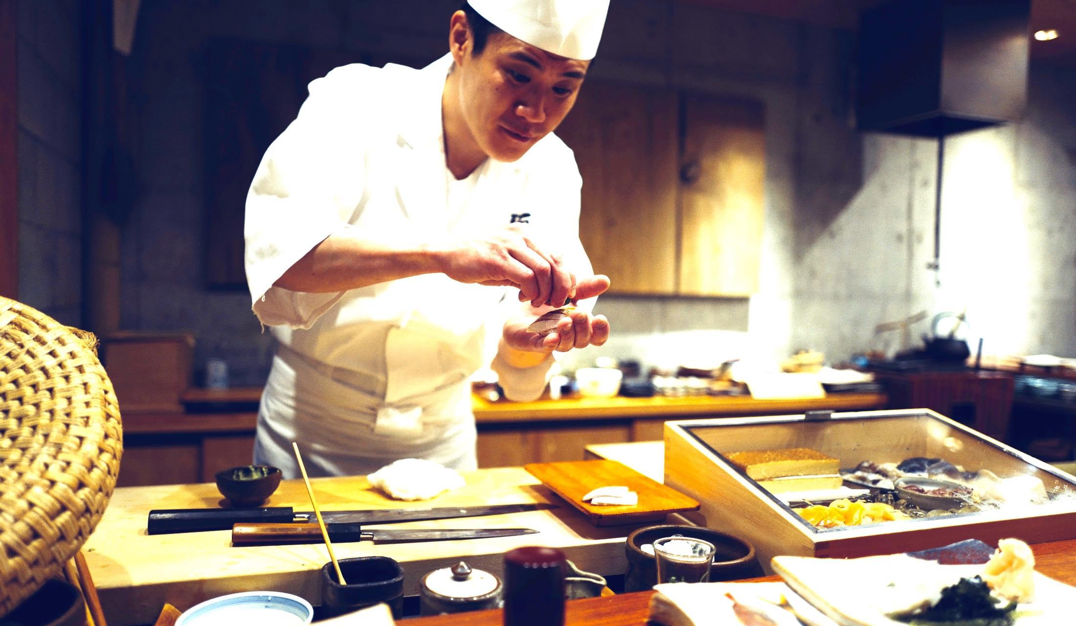 お寿司屋さんの大将
