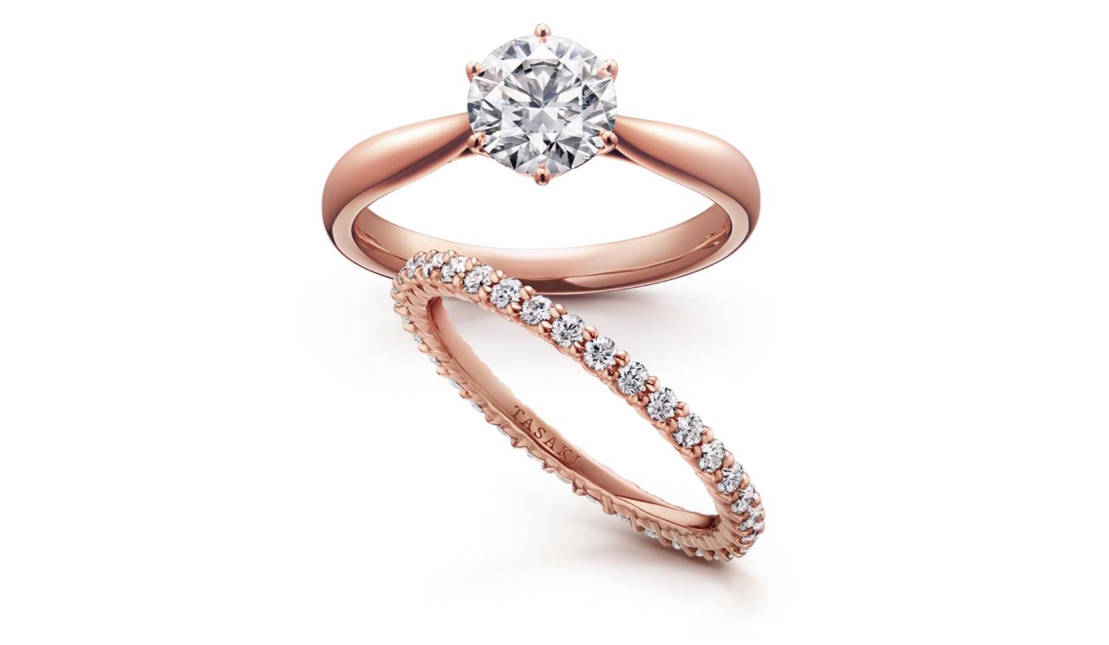 TASAKIのダイヤモンドリング「ピアチェーレ」「ブリッランテ」