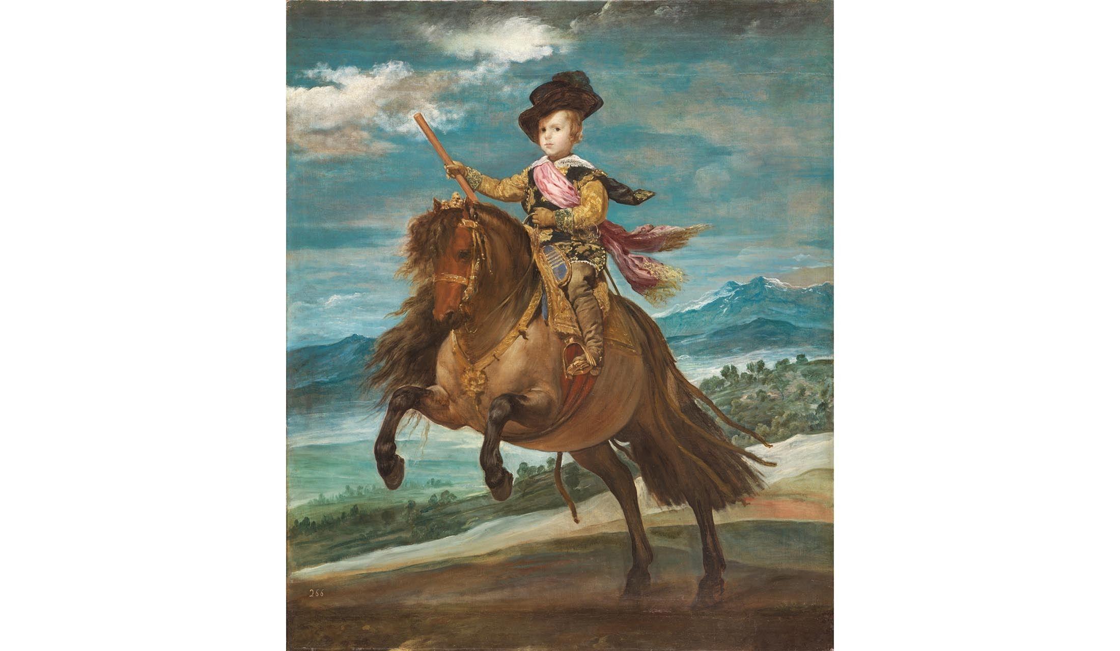 「プラド美術館展 ベラスケスと絵画の栄光」で展示される、ディエゴ・ベラスケスの『王太子バルタサール・カルロス騎馬像』