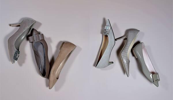 「セルジオ ロッシ」「フェラガモ」「ジミー チュウ」他…グレージュ「本格ポインテッド」靴6選