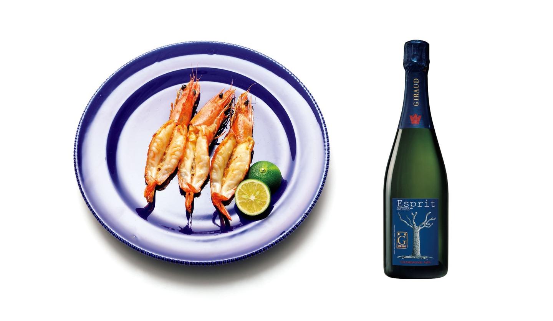 「アンリ・ジロー エスプリ ナチュール」と「釜鶴ひもの店の海老の干物」