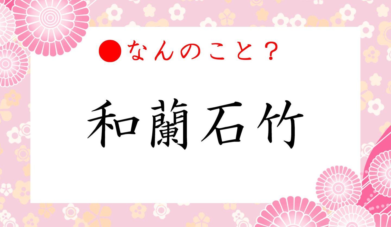 日本語クイズ出題画像 漢字「和蘭石竹」とはなんのこと?