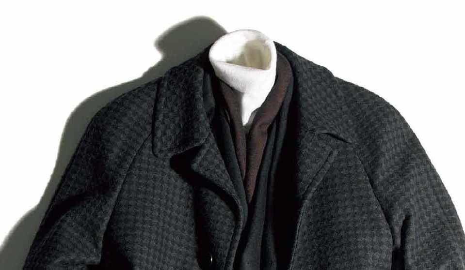 ロングコートの着こなし
