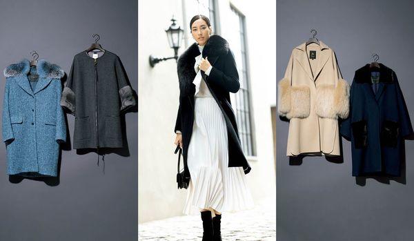 ファー付きあったかコート5選 マニッシュなコートにこそ、女性らしいファーを!