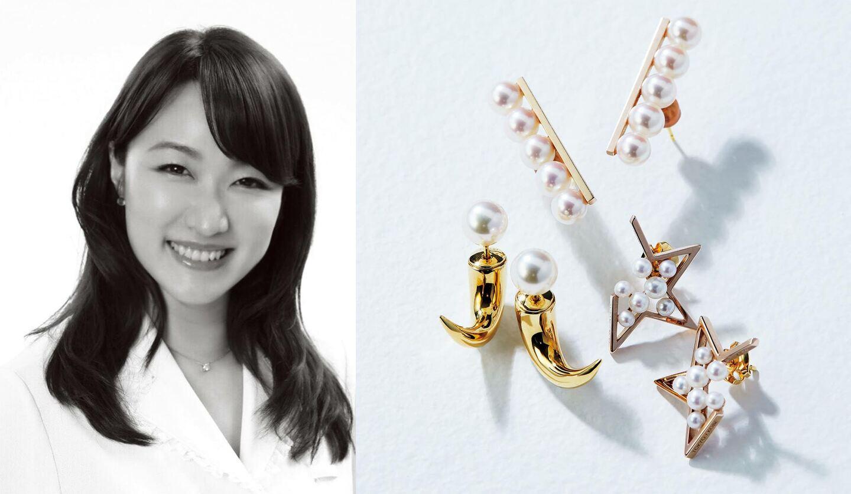 歯学博士の照山裕子さんとタサキ(TASAKI)のパールピアス
