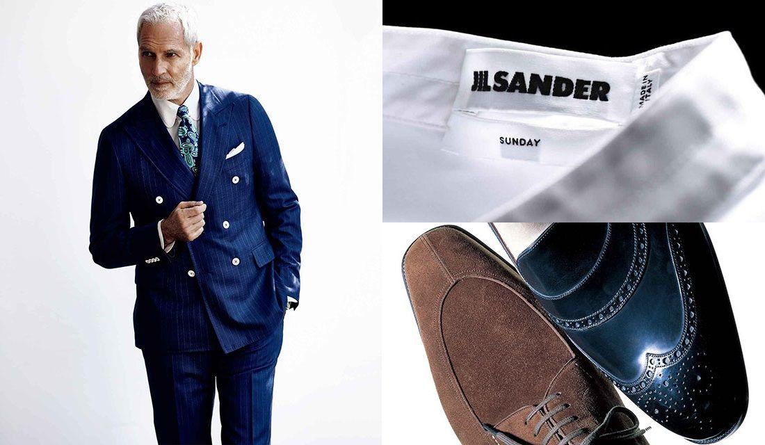 スーツとシャツと靴