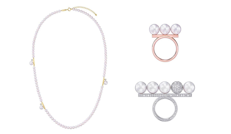 TASAKI(タサキ)の「balance(バランス)」シリーズ「balance 10」コレクションのネックレスとリング
