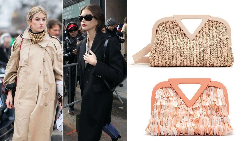 スカーフを使ったスタイリングのセレブ二人と「ボッテガ・ヴェネタ」の新作バッグ