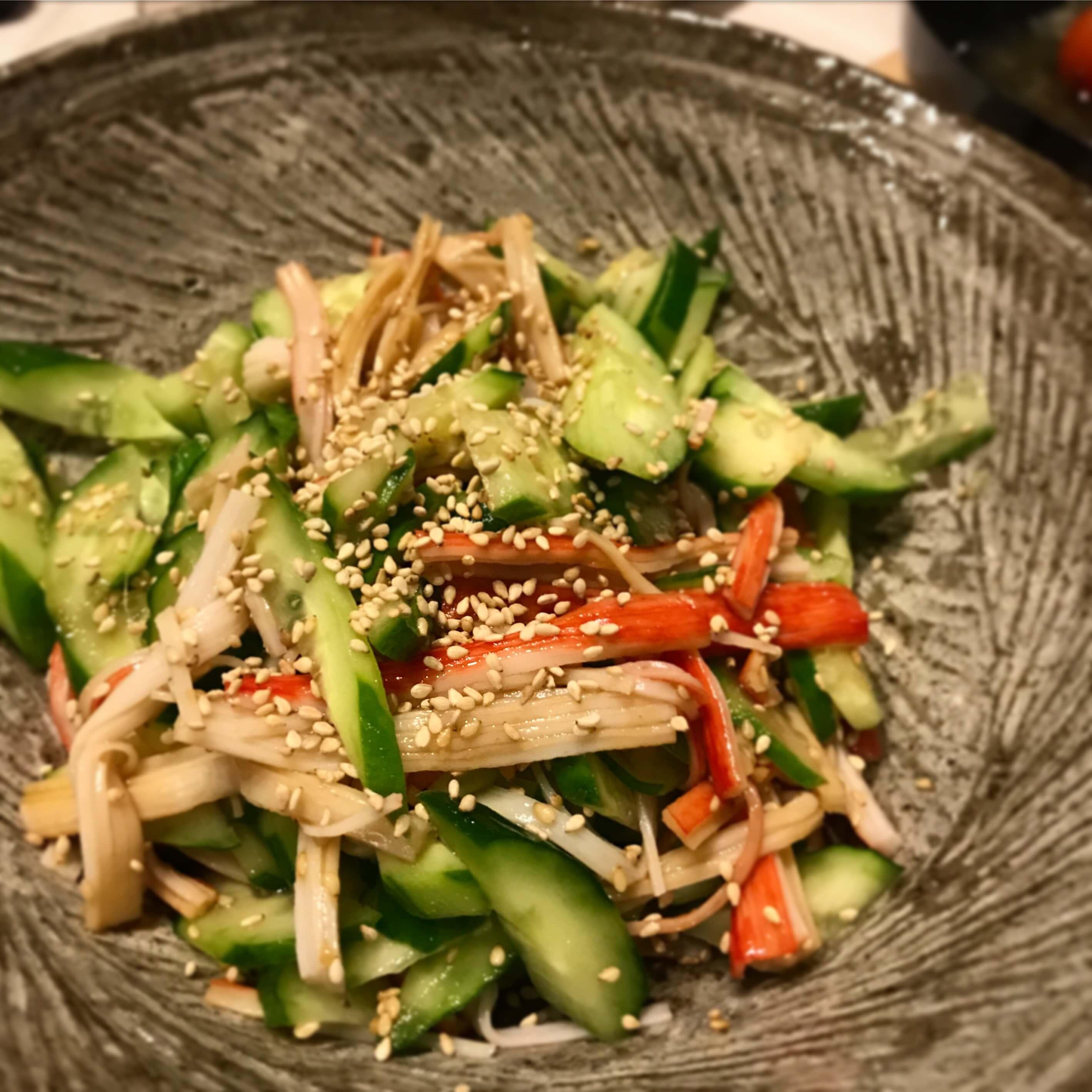 きゅうりとかにかまの中華サラダ
