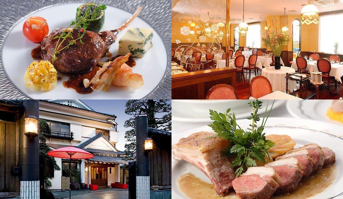 横浜のレストランの内観や料理の写真4枚
