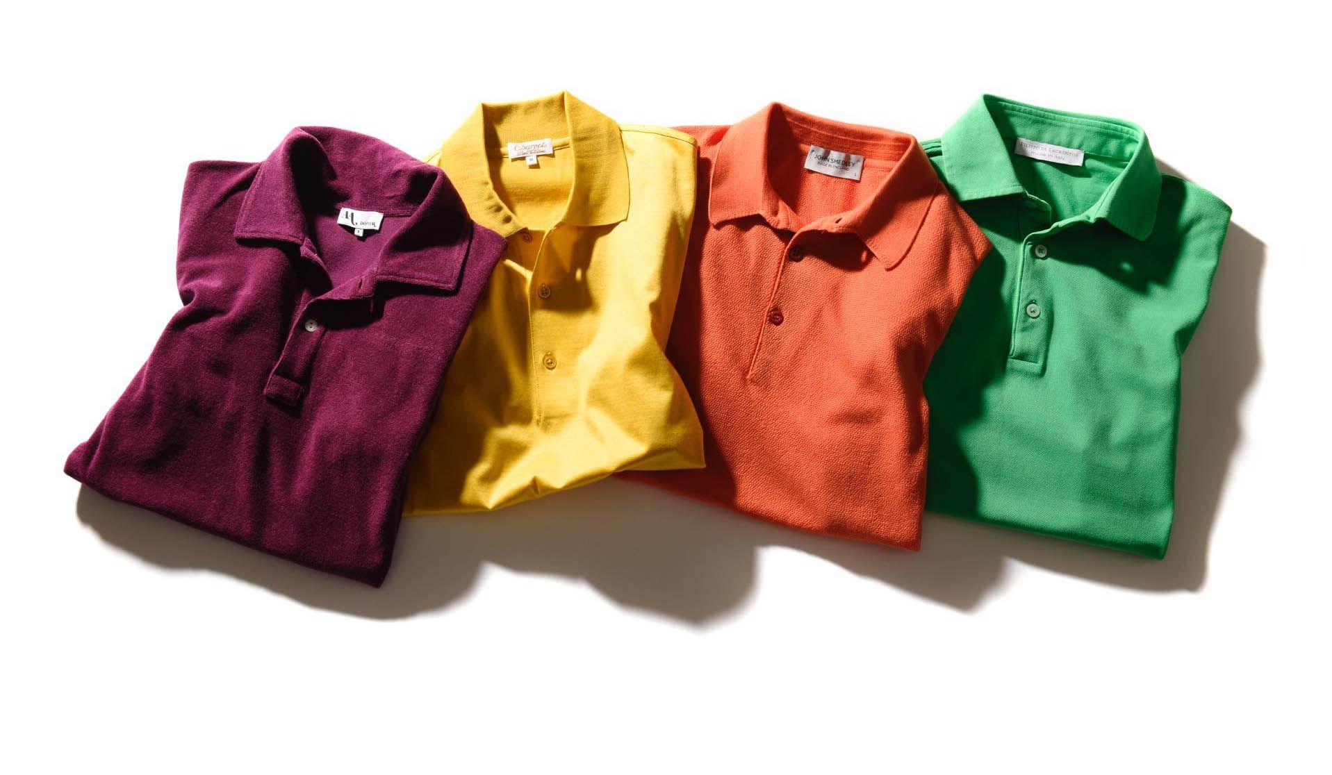 ドッピア アー、シャルべ、フィリッポ ディ ローレンティス、ジョン スメドレーのカラーポロシャツ
