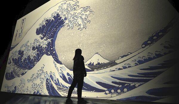 日本美術の最高傑作を巨大デジタルアートで鑑賞する『巨大映像で迫る五大絵師』−北斎・広重・宗達・光琳・若冲の世界−