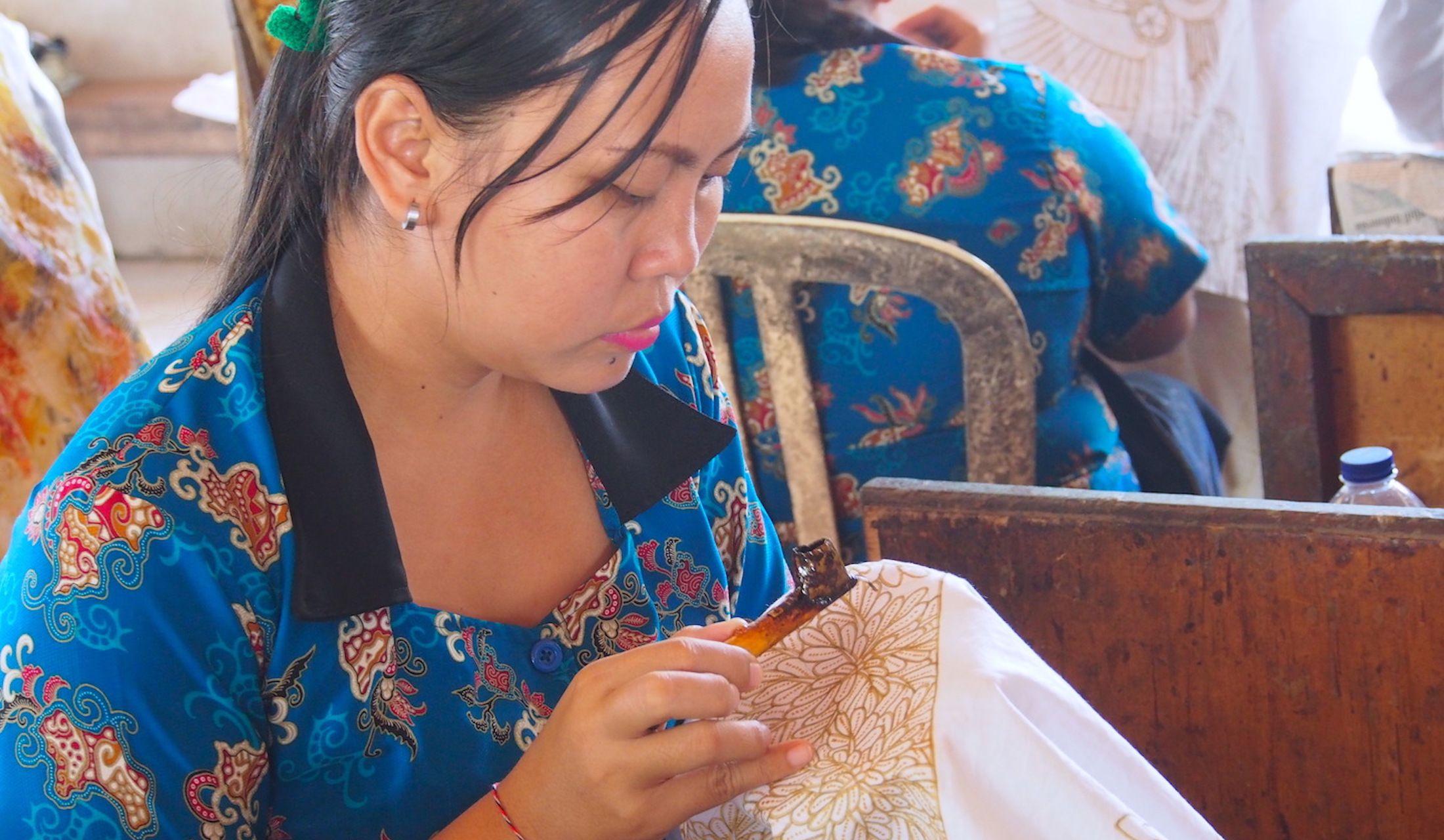 インドネシア・バリ旅行で訪れるべき「バティック染め」工房の写真