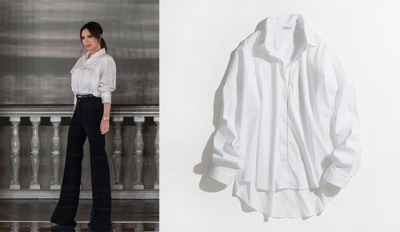 ヴィクトリア・ベッカムの写真、白シャツの写真