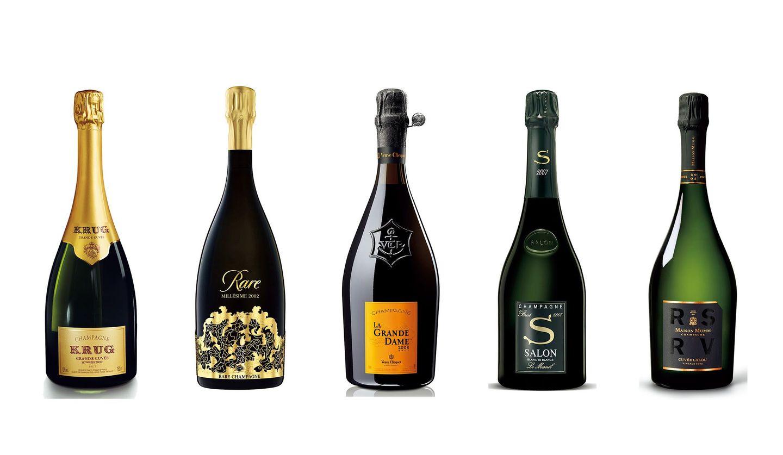 「グランド・キュヴェ 167th エディション」、「レア 2002」、「ラ・グランダム 2008」、サロンの「2007」、「RSRV キュヴェ ラルー 2002」