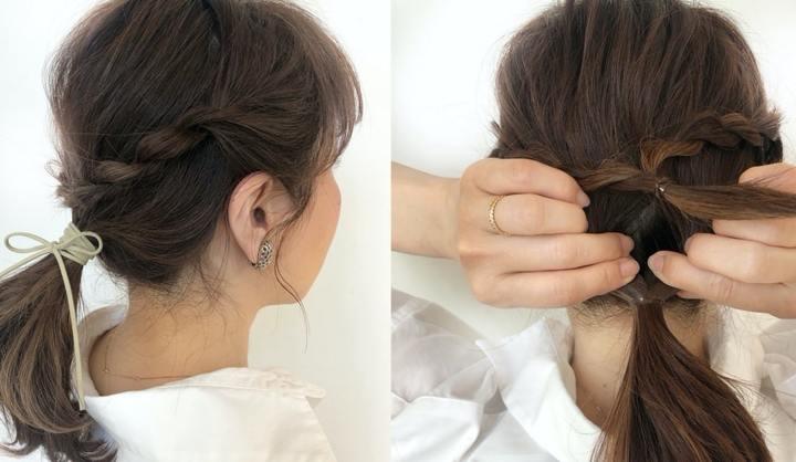 まとめ髪の女性