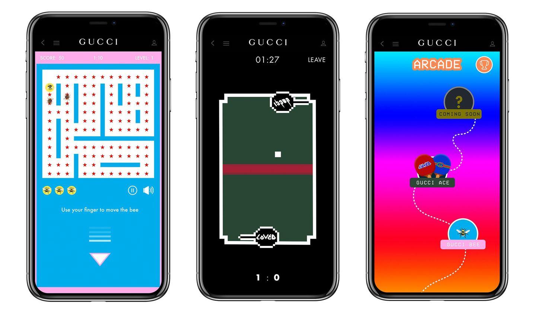 """GUCCI(グッチ)の公式アプリ「Gucci App」のゲームセクション""""Gucci Arcade"""""""