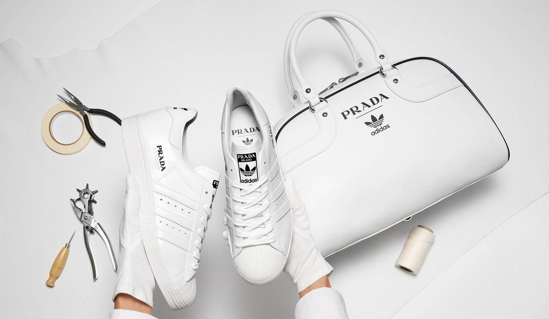 「Prada for adidas」のファーストコレクション、スニーカーとバッグ