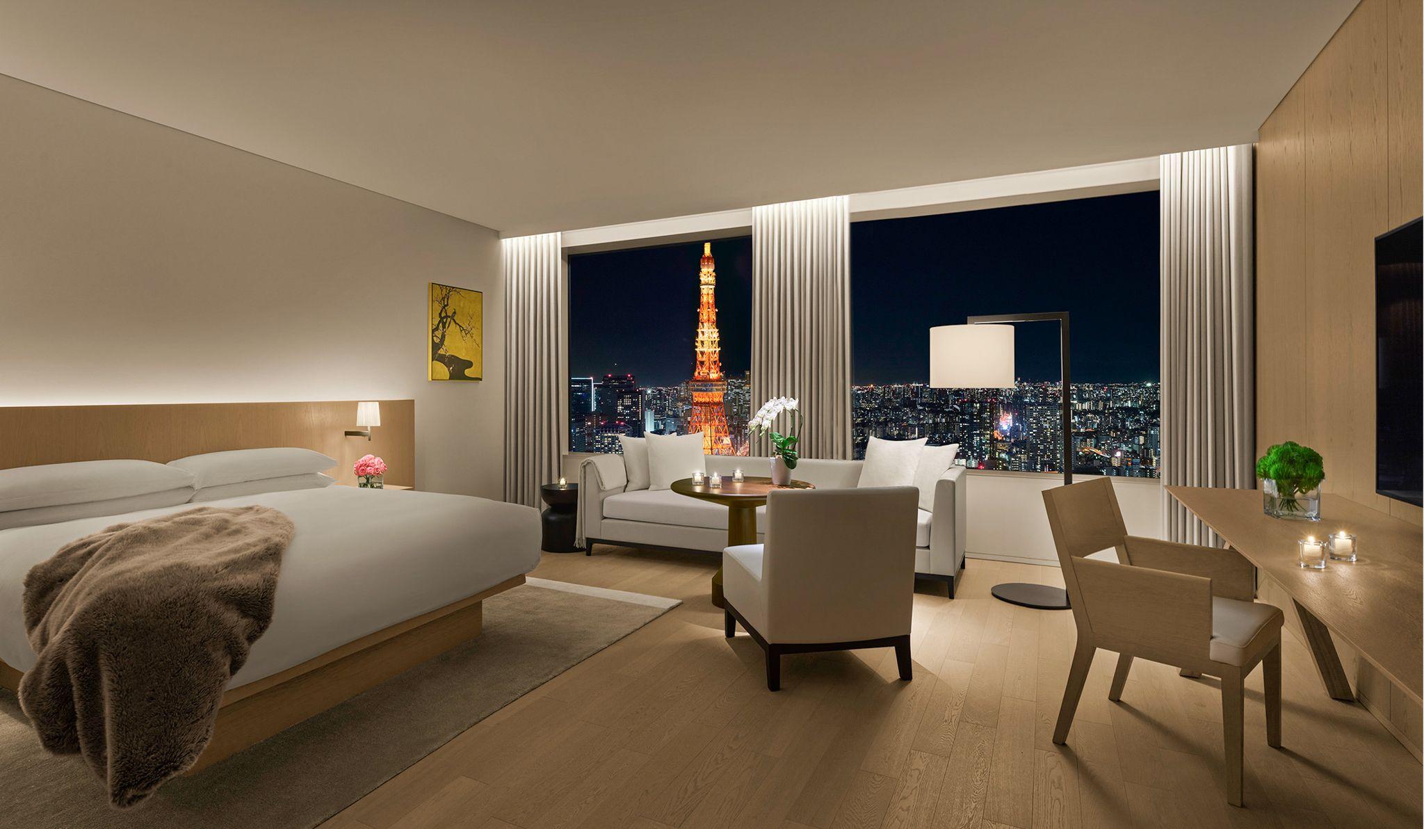 東京エディション虎ノ門の東京タワービューの部屋