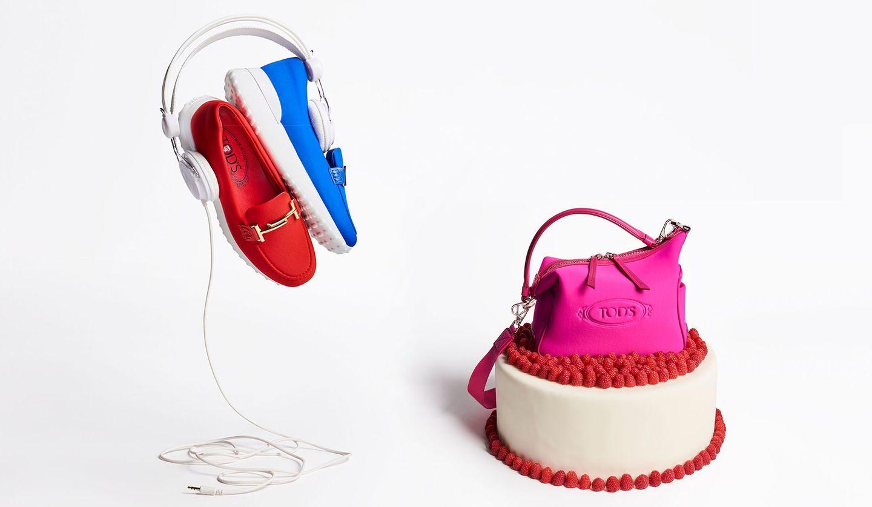 アルベール・エルバスによる「トッズ」のカプセルコレクション「Tod's Happy Moments by Alber Elbaz」の靴とバッグ