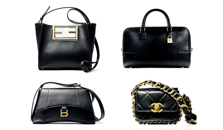 シャネル、フェンディ、バレンシアガ、ロエベの黒バッグ