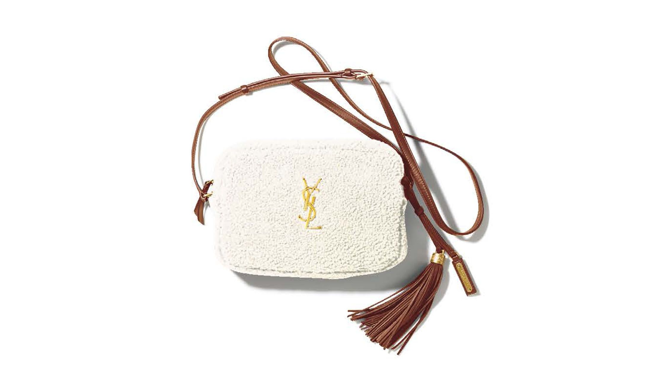 サンローラン バイ アンソニー・ヴァカレロのメリノウールバッグ「モノグラム・サンローラン ルー・サッチェル」