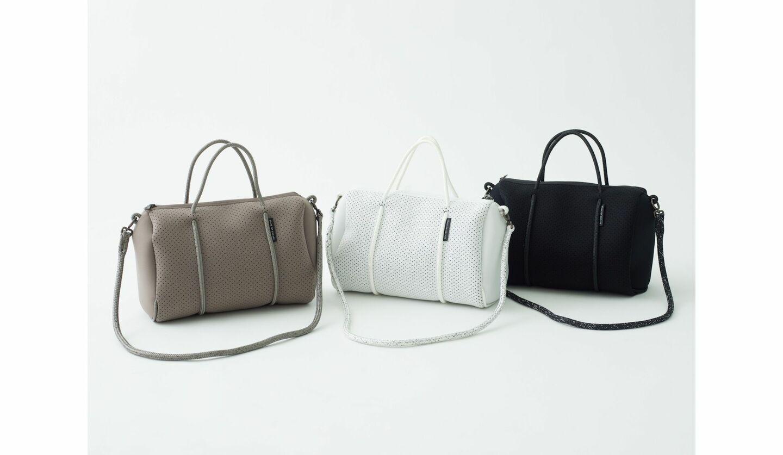 ステートオブエスケープの新作バッグ「Prequel(プリクエル)」のミディアムサイズ3色が並んだ画像