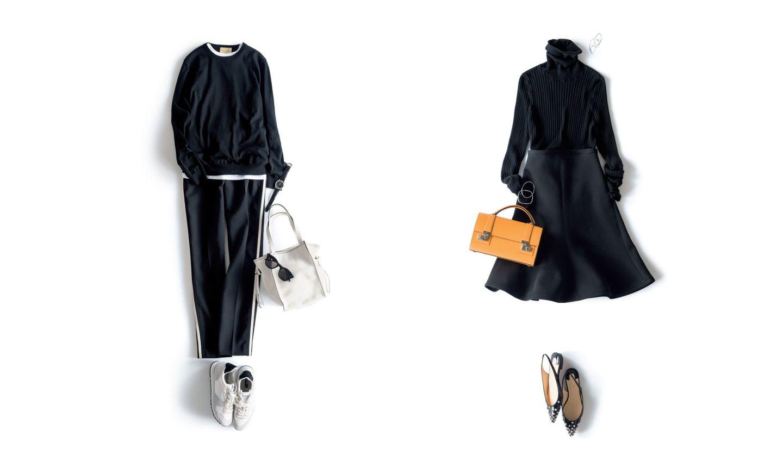 パンツとスカートのカジュアル・ブラック