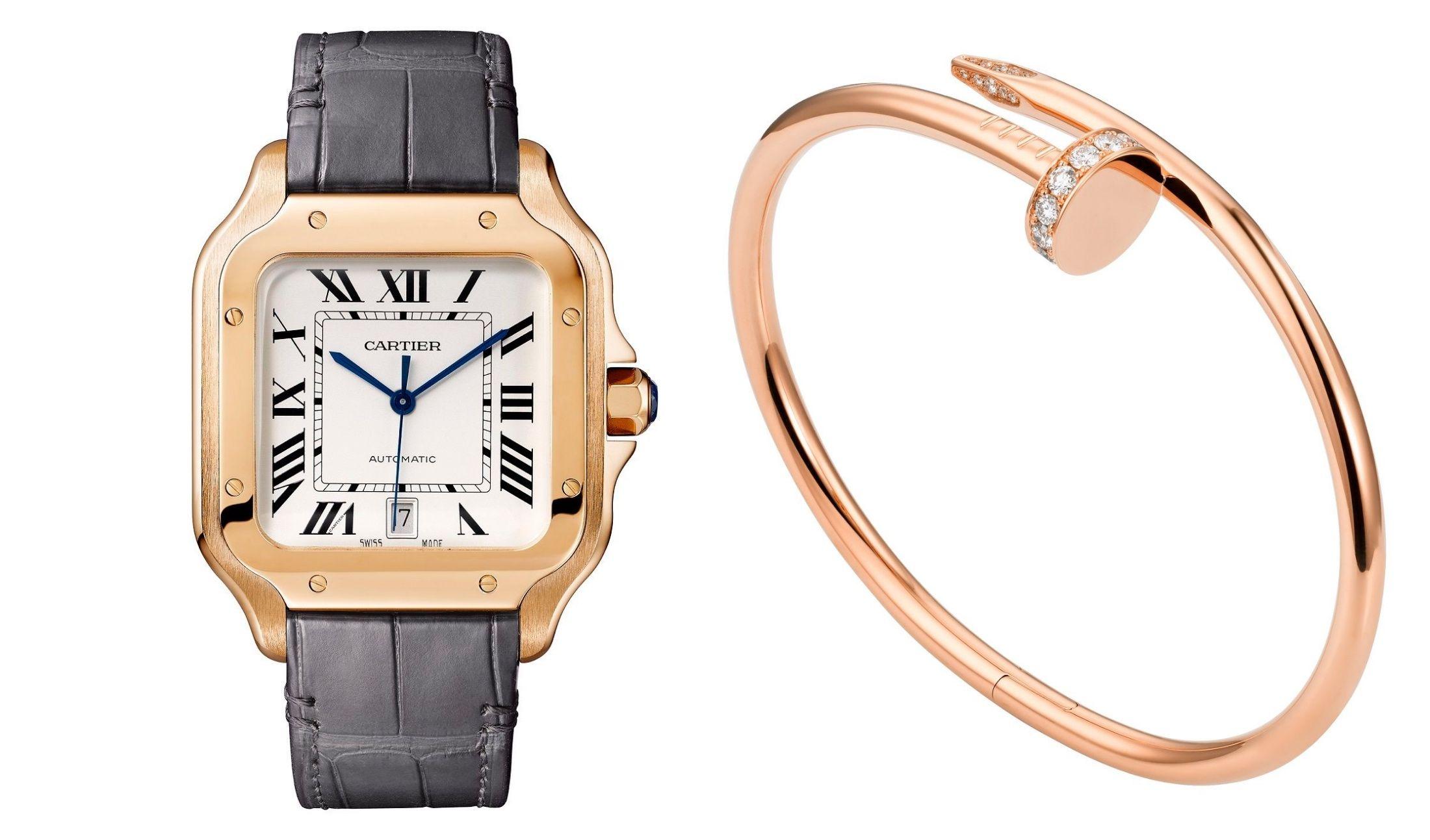 カルティエの時計とブレスレット