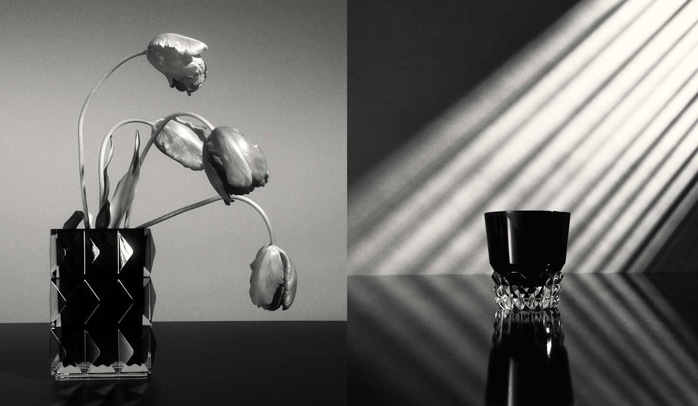 サンローラン初となるライフスタイルカテゴリーの花瓶とグラス