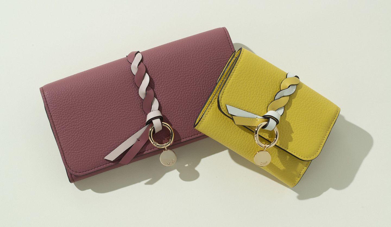 クロエの「アルファベット」の新作長財布と三つ折り財布