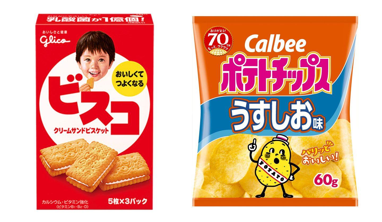 グリコ「ビスコ」とカルビー「ポテトチップス」
