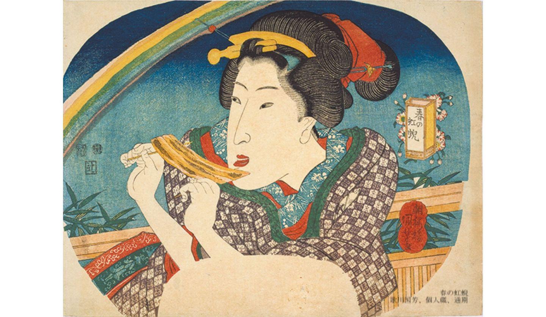 「春の虹蜺」 歌川国芳 個人蔵