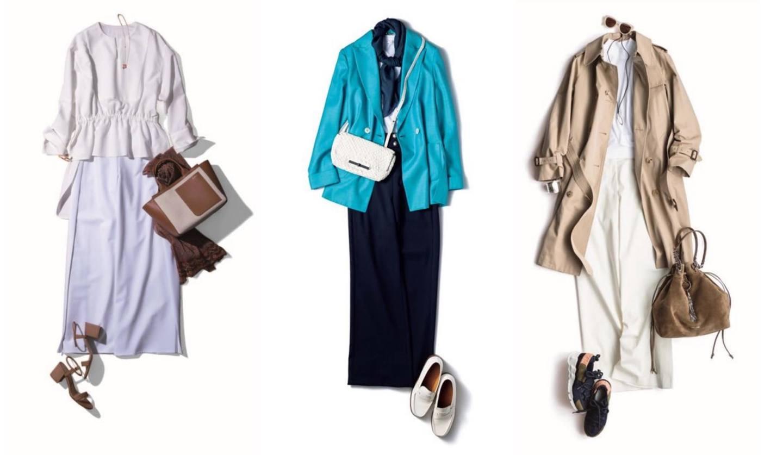 アウター、靴の合わせ方は?黒・ベージュ・デニムなど、40・50代のワイドパンツの着こなし集