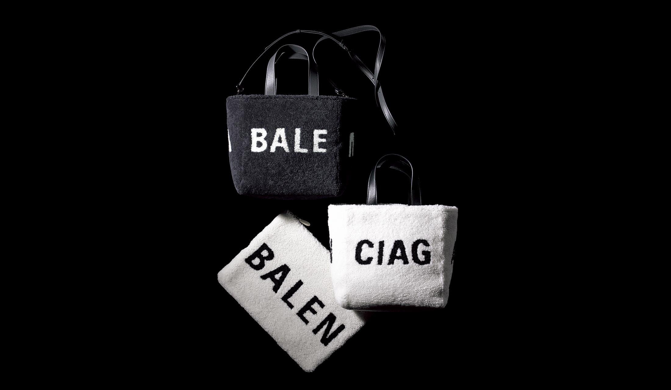 バレンシアガのムートンバッグ「エブリデイ」と「ポーチ シアリング」