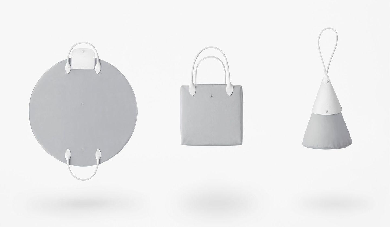 LONGCHAMP(ロンシャン)とnendo(ネンド)コラボレーションのバッグ「ル プリアージュ®」