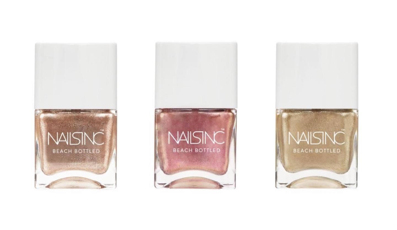 UK発ファッションネイルブランド「NAILS INC(ネイルズ インク)」より、日焼けした小麦肌に映えるグリッターコレクション「BEACH BOTTLED」全4色と、ギャラクシーのような輝きを放つマルチグリッター&夏らしい鮮やかなピンクネイルのデュオキット「My FavouriteColor is RAINBOW」が、2019年6月28日より発売