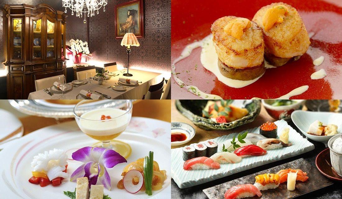 品川のレストランの内観や料理の写真4枚