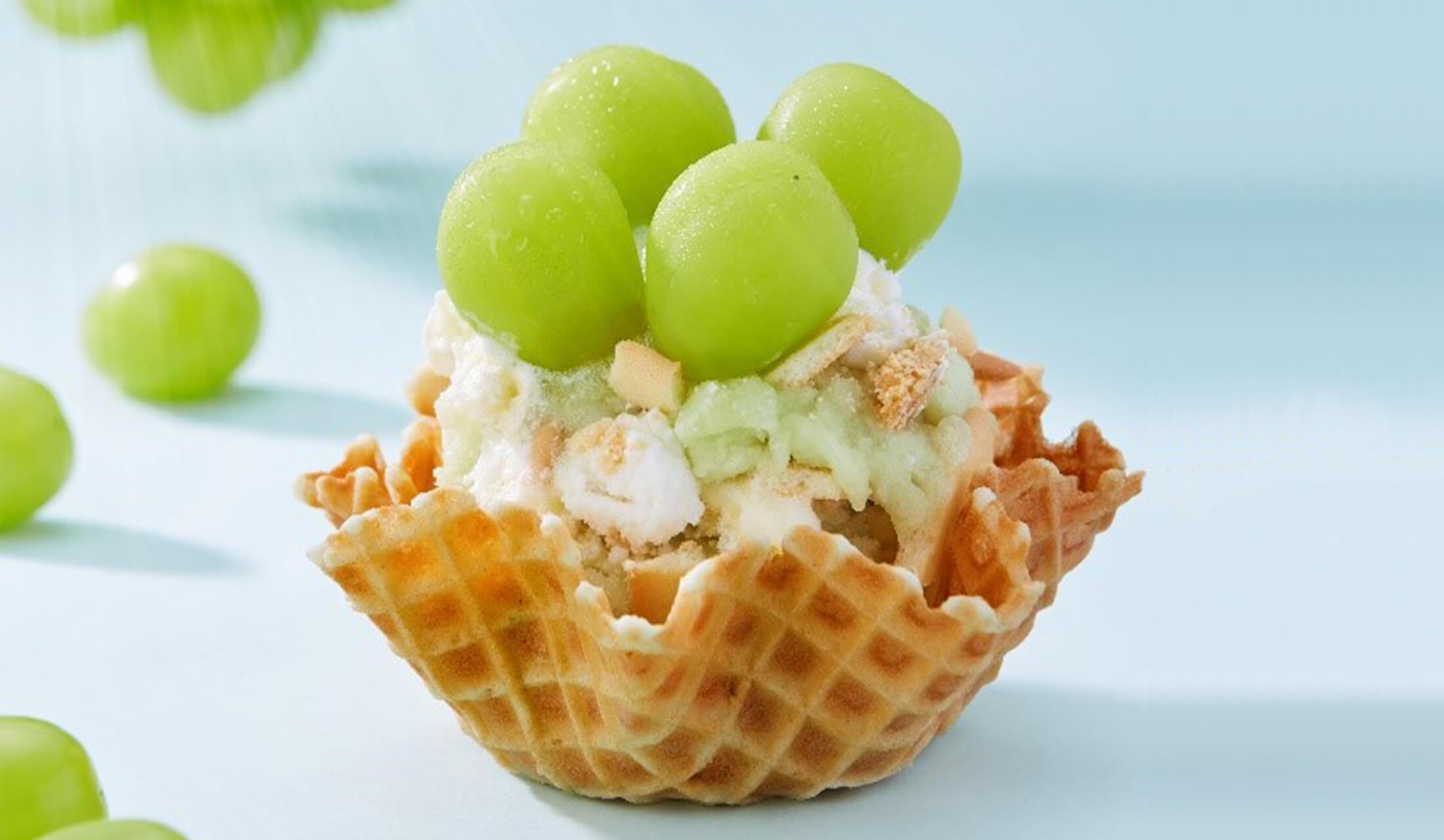 マスカットのアイスクリーム