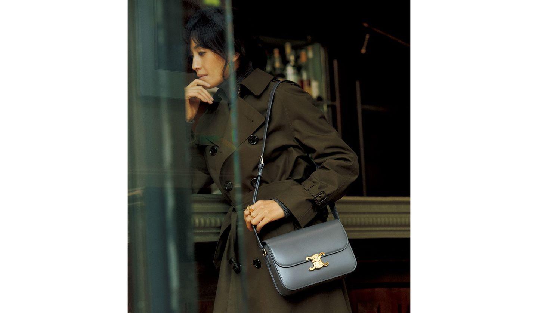 セリーヌのバッグ「トリオンフ」を使ったコーディネート