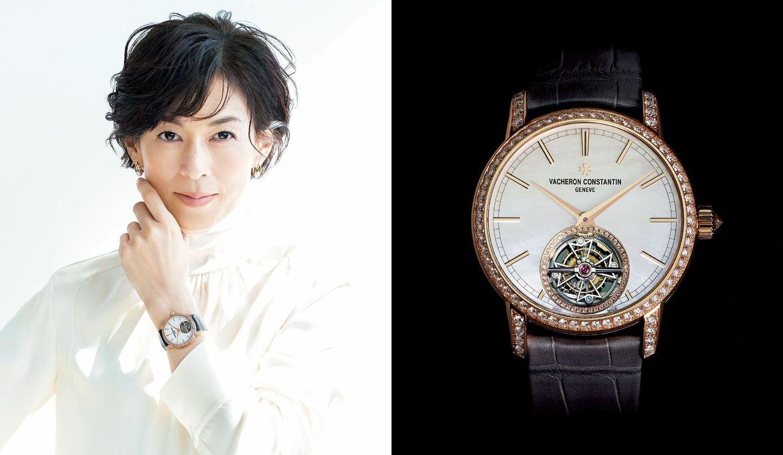 鈴木保奈美さんとヴァシュロン・コンスタンタンの時計「トラディショナル・トゥールビヨン」