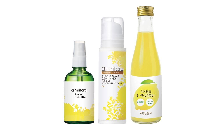 レモンのファブリックミスト・クレンジング・果汁