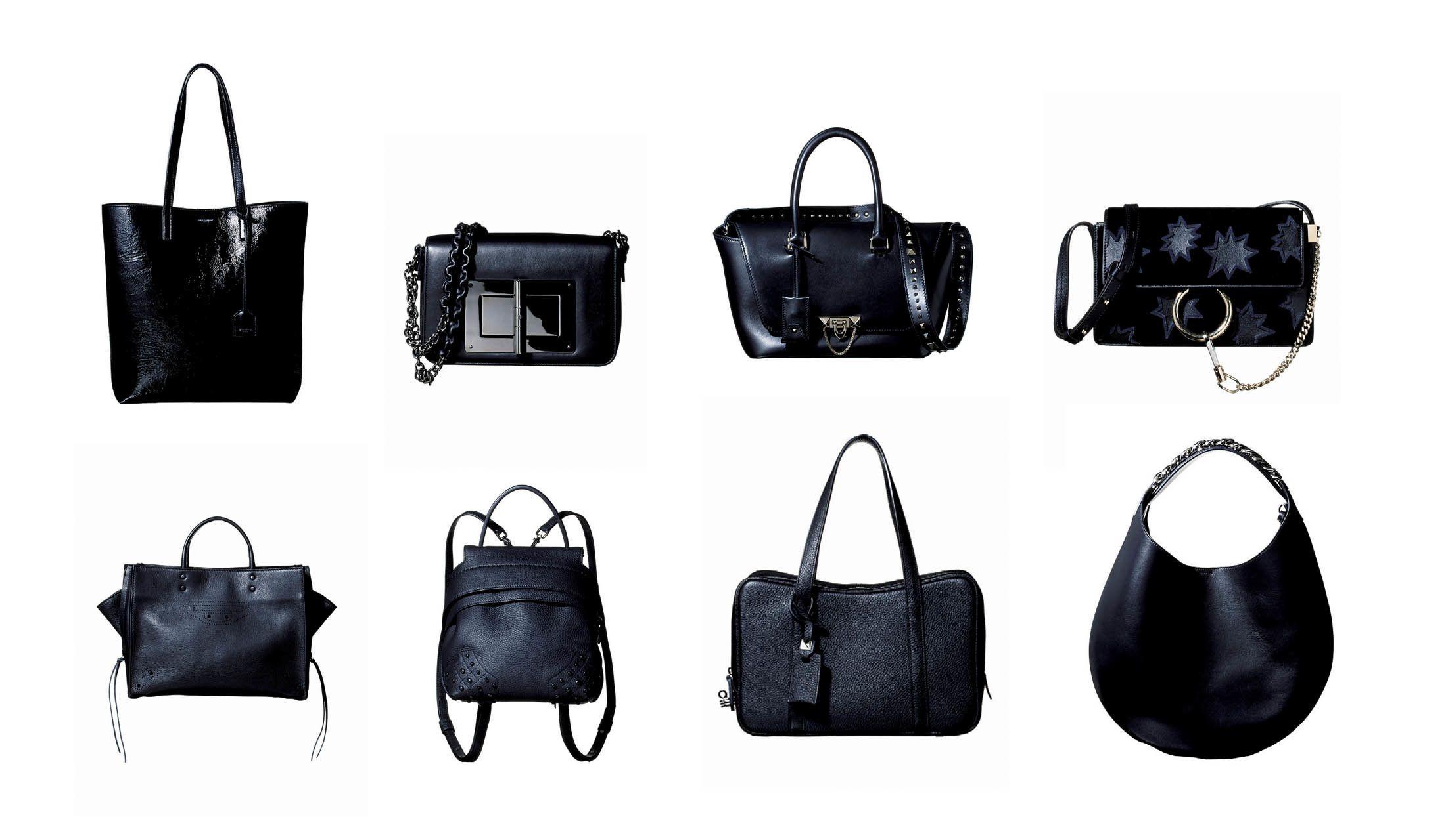 8つのラグジュアリーブランドによる「ブラック」バッグ