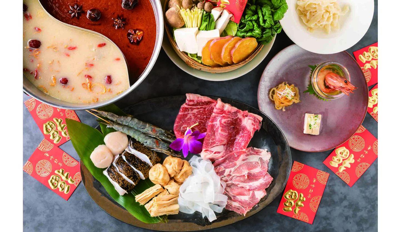 「グランド ハイアット 東京」の「漢方和牛の薬膳コラーゲン火鍋」